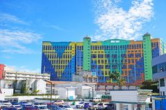 Malaysia höglands- Genting - 15 Oktober, 2018: Genting det första världshotellet, mest storslaget hotell i den Genting höglandet, fotografering för bildbyråer