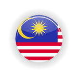 Malaysia icon circle Royalty Free Stock Image