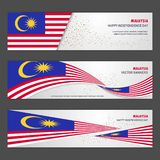 Malaysia independence day abstract background design banner and. Flyer, postcard, landscape, celebration vector illustration - This Vector EPS 10 illustration Vector Illustration
