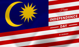 Malaysia Independence Day. 31 august. Waving flag. Vector. Malaysia Independence Day. 31 august. Waving flag. Vector illustration Stock Images