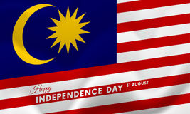 Malaysia Independence Day. 31 august. Waving flag. Vector. Malaysia Independence Day. 31 august. Waving flag. Vector illustration Royalty Free Stock Photo