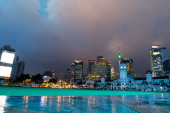 Malaysia Independence square at twilight Stock Photo