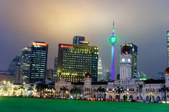 Malaysia Independence square at twilight Royalty Free Stock Images