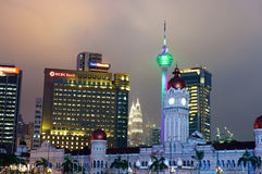 Malaysia Independence square at twilight Stock Image
