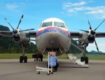 Malaysia. Inspeção 2of2 do mecânico/coordenador de aviões Imagem de Stock