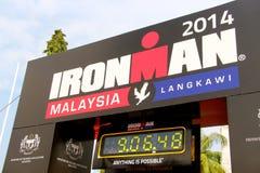 Malaysia Iron man 2014 the end of the race clock Stock Photos