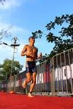 Malaysia Iron man 2014 running from the swim Royalty Free Stock Photo