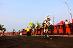 Malaysia Iron man 2014 the start of the 180km bike Royalty Free Stock Images