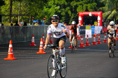 Malaysia Iron man 2014 the start of the 180km bike Stock Image
