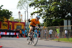 Malaysia Iron man 2014 the start of the 180km bike Royalty Free Stock Photo