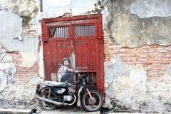 Malaysia - 19. Juli: Straßenkunst in Penang, Malaysia am 19. Juli, Stockfotografie