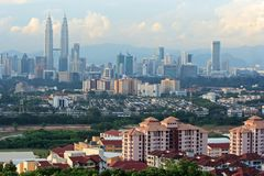 Malaysia-Kapital - Kuala Lumpur Stockfotos