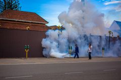 Malaysia. Kota Baru 15 may 2014. Man is cleaning Royalty Free Stock Images