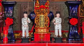 Malaysia Kuala Lumpur: Chan See Shu chinese temple. Malaysia; the Chan See Shu Yen is one of the Kuala Lumpur largest Buddhist temples built in the Chinese royalty free stock image