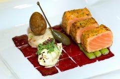 Malaysia  Kuala Lumpur: Culinary: salmon Stock Photography