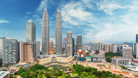 Malaysia, Kuala Lumpur-Skyline stockfotografie