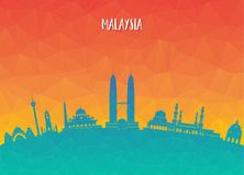 Free Malaysia Landmark Global Travel And Journey Paper Background. Vector Design Template.used For Your Advertisement, Book, Banner, T Stock Photos - 117482193