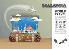 Malaysia Landmark Global Travel And Journey Infographic luggage. 3D Design Vector Template.vector/illustration. can be used for your business, advertisement or Royalty Free Stock Photo