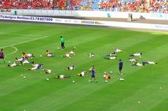 Malaysia and Liverpool football team Royalty Free Stock Photos