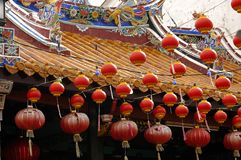 Malaysia Malacca: Paper lanterns Royalty Free Stock Images