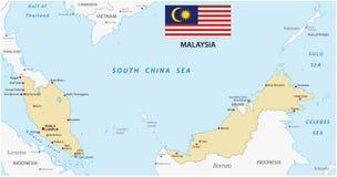 Malaysia map Royalty Free Stock Photos