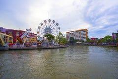 MALAYSIA - MARCH 23: Malacca eye on the banks of Melaka river on stock image