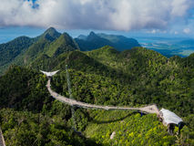 Malaysia Mountains and Langkawi Skybrige Stock Images