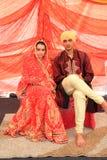 Malaysia Multi Ethnic Wedding Exhibition. KUALA LUMPUR, MALAYSIA - NOVEMBER 28: The Punjab Couple wearing exotic traditional cloth at the Malaysia Wedding Royalty Free Stock Photos