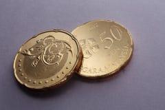 Malaysia mynt Arkivfoto