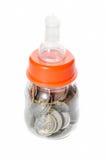 Malaysia mynt behandla som ett barn in flaskan Royaltyfri Fotografi