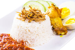 Malaysia Nasi Lemak VII Royalty Free Stock Photography