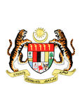Malaysia National Emblem Isolated on White stock photos