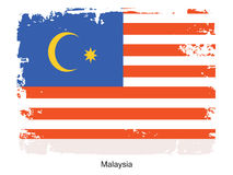 Malaysia national flag Royalty Free Stock Images