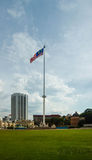 Malaysia national flag at independent square. Stock Images