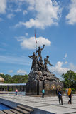 Malaysia National Monument in Kuala Lumpur. KUALA LUMPUR - DECEMBER 25 : Malaysia National Monument on Dec 25, 2015 in Malaysia. It is a monument to commemorate Royalty Free Stock Photo