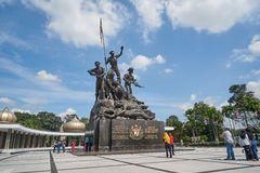 Malaysia National Monument in Kuala Lumpur. KUALA LUMPUR - DECEMBER 25 : Malaysia National Monument on Dec 25, 2015 in Malaysia. It is a monument to commemorate Stock Photo