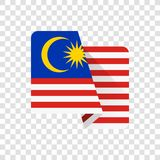 Malaysia - nationsflagga stock illustrationer