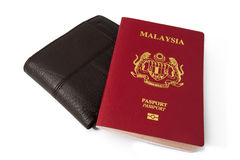 Malaysia pass med bakgrund Royaltyfri Foto