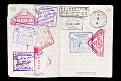malaysia paszport stempluje wizę Zdjęcia Royalty Free