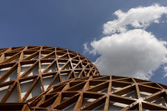 Malaysia pavilion and bright cloud, EXPO 2015 Milan Stock Images