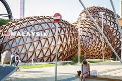 Malaysia paviljong på expon 2015 i Milan, Italien royaltyfria foton