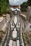 Malaysia Penang Hill Cable Car. Malaysia Penang Hill new cable car going up hill Royalty Free Stock Images