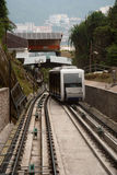 Malaysia Penang Hill Cable Car. Malaysia Penang Hill new cable car going up hill Stock Photography