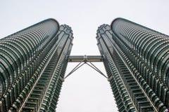 malaysia petronas torn kopplar samman Royaltyfri Bild