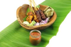 Malaysia Popular Grilled Chicken Satay Royalty Free Stock Image
