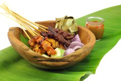 Malaysia Popular Grilled Chicken Satay Stock Image