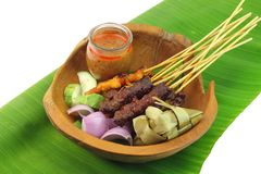 Malaysia Popular Grilled Chicken Satay Royalty Free Stock Photo