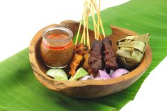 Malaysia Popular Grilled Chicken Satay Royalty Free Stock Images