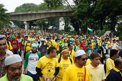 Malaysia rally protest Stock Photo