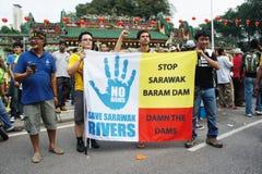 Malaysia rally protest Stock Image